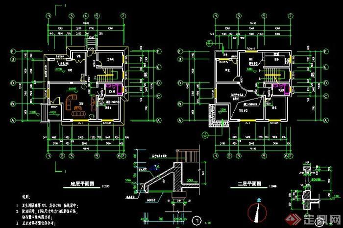 农村自建房别墅建筑设计施工图