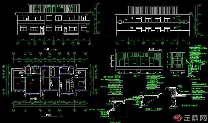 某二层别墅建筑设计施工图图片