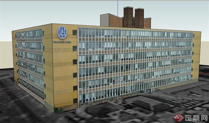 六层办公楼外观设计图展示