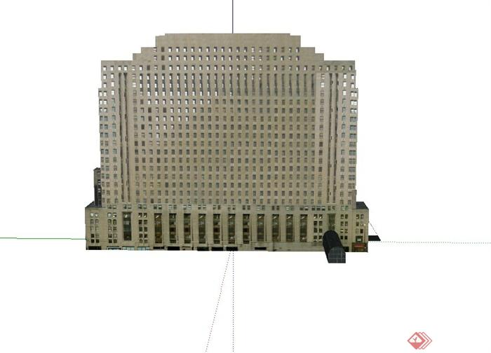 某欧式高层商务酒店建筑设计su模型