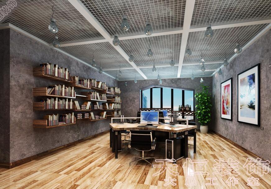 后现代工业风的创意办公室