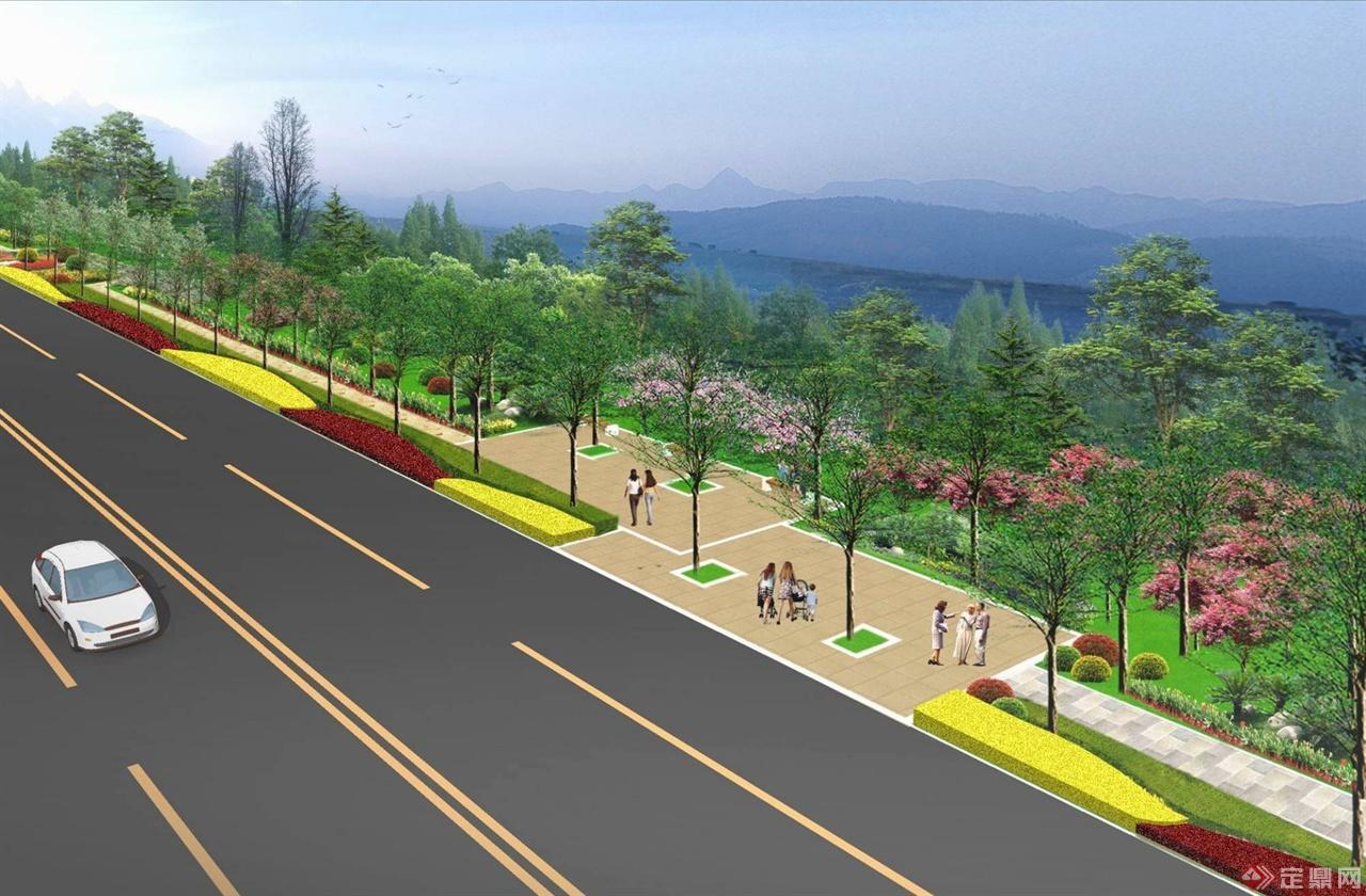 道路两侧景观设计工作
