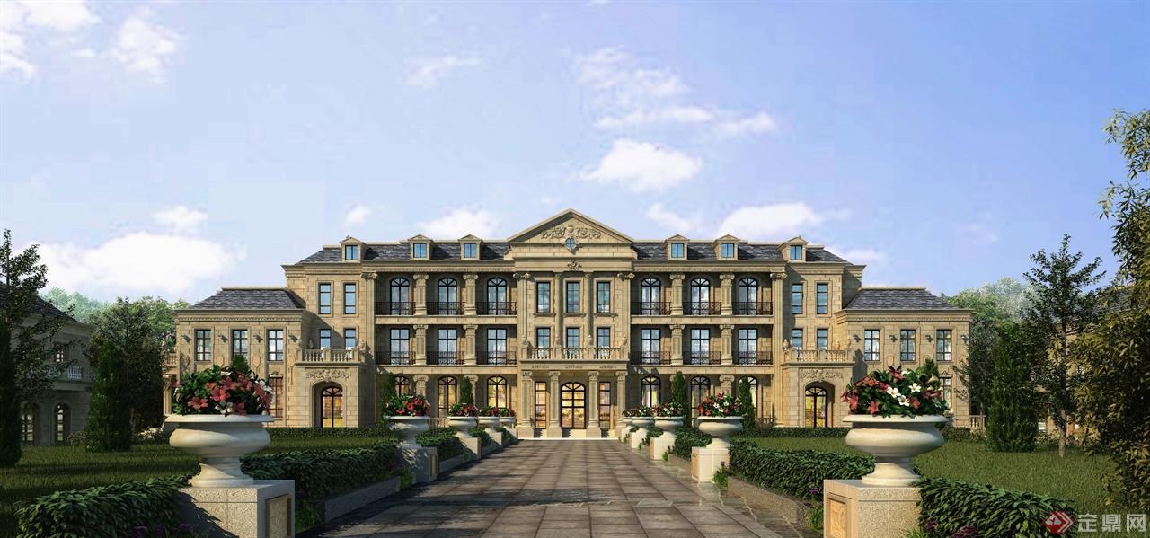 法式风情别墅区-锐意设计