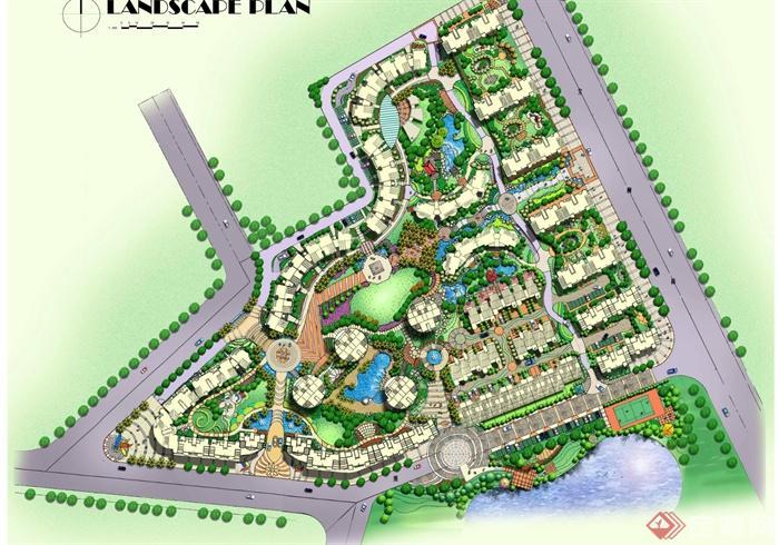小区景观,住宅区环境