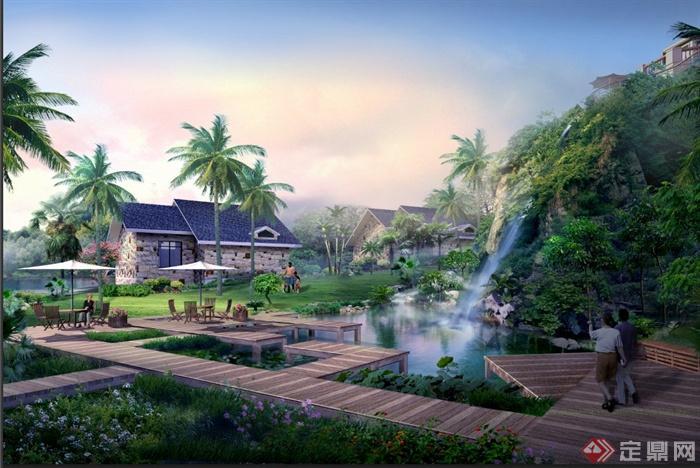 某旅游度假村景观设计psd效果图[原创]