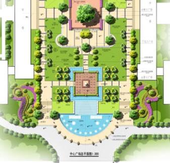 多个庭院景观设计-广场水体道路花坛广场设计-设计师