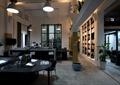 办公室,书架,桌椅,盆栽