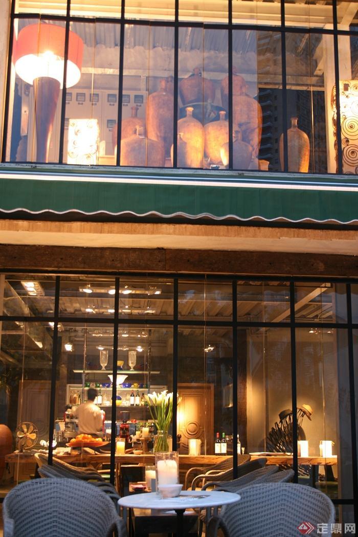 餐厅,咖啡馆,玻璃窗