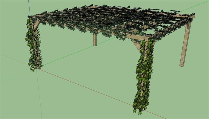 十种藤蔓爬墙植物的su模型素材