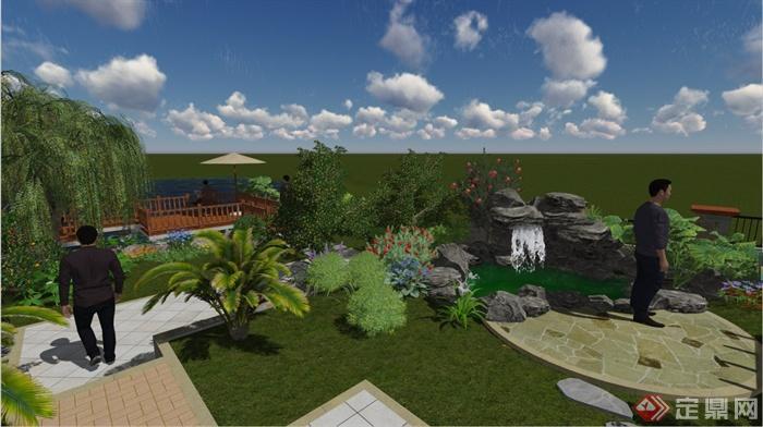 某别墅花园景观设计效果图(带su模型)[原创]