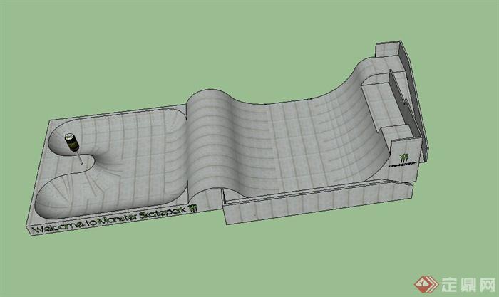 某现代滑板运动场地设计us模型