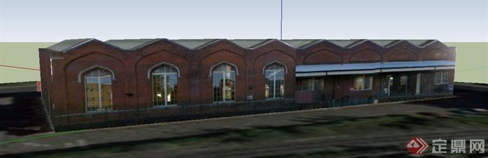 某单层欧式风格商业建筑设计su模型
