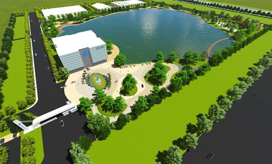 黃岡晨鳴漿紙公司廠區景觀設計