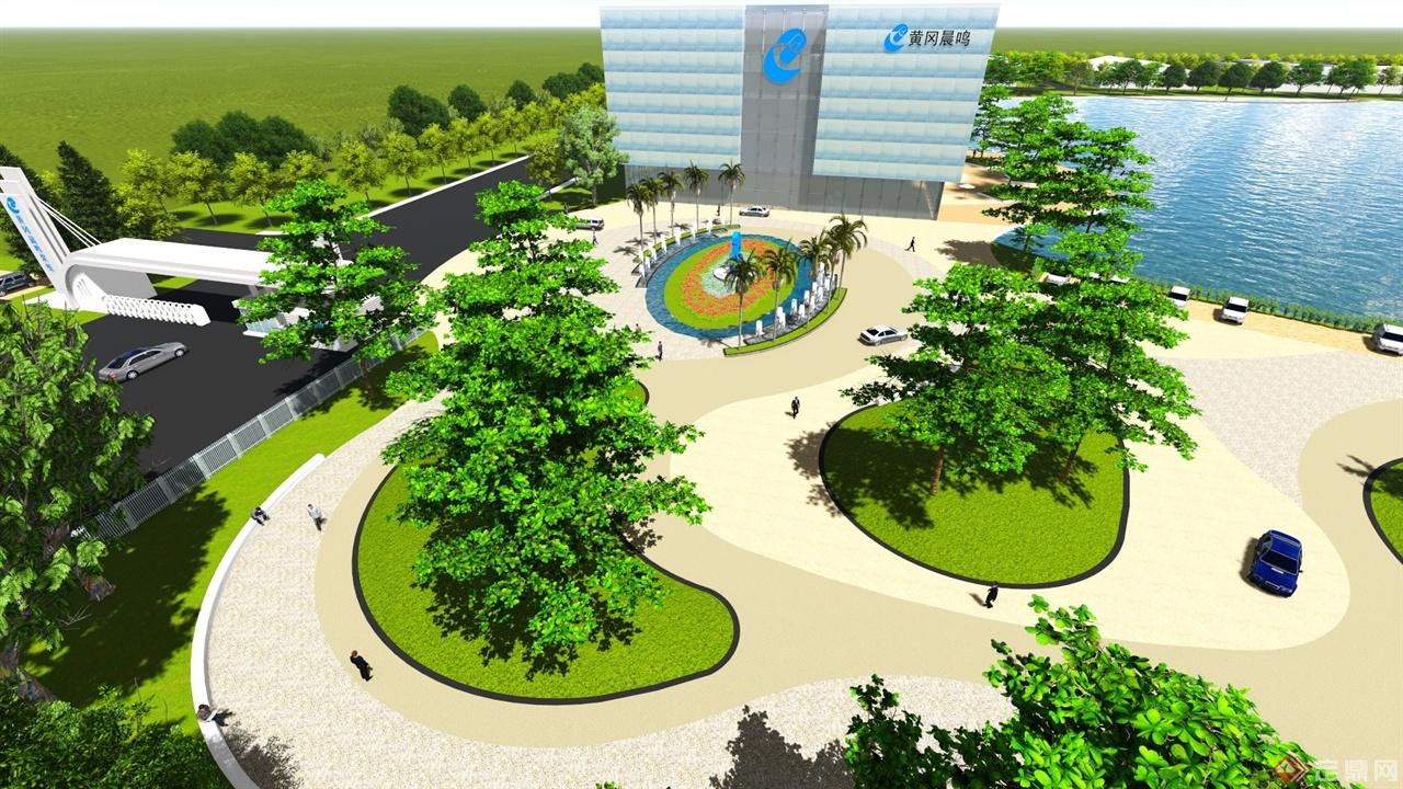 厂区绿地手绘平面图
