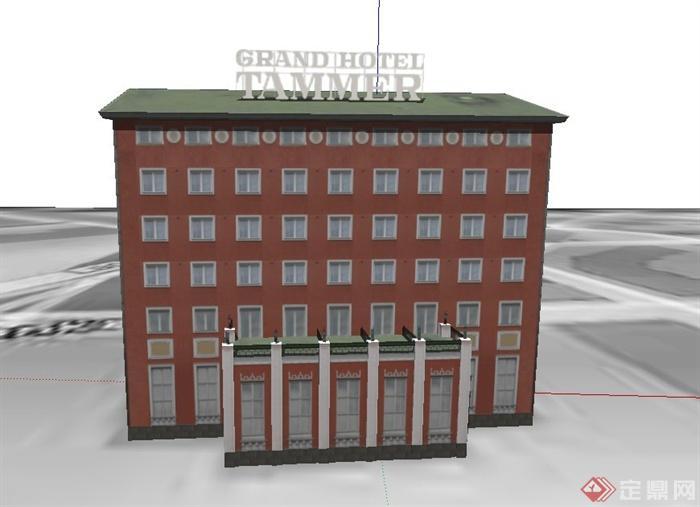 某欧式五层住宅建筑设计su模型