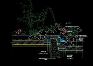园林景观自然湖底驳岸设计CAD施工图