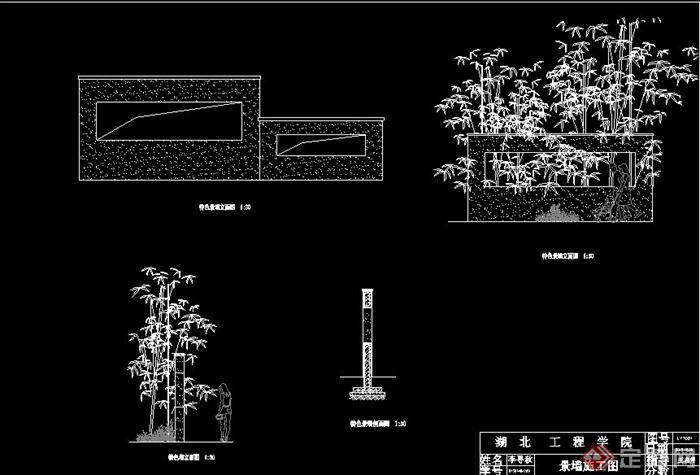 景墙设计CAD施工图