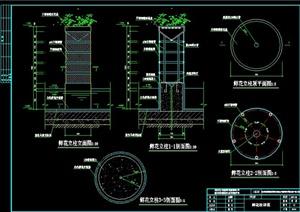 某鲜花立柱设计CAD施工图