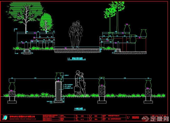 景观柱设计cad施工图