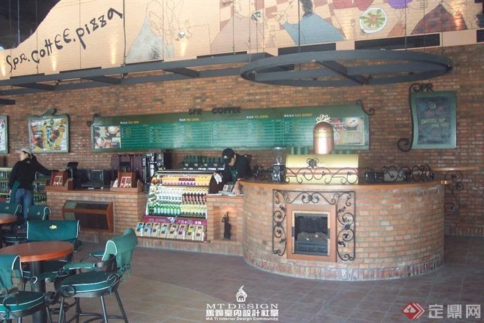 咖啡馆装修图片-咖啡厅吧台展示品-设计师图库