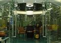 咖啡厅,包间,玻璃隔墙,灯饰
