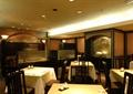 餐厅空间,方形餐桌椅,隔墙,灯饰,茶具