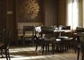餐饮空间,餐桌椅,形象墙
