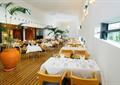 餐厅空间,餐桌椅,植物盆栽,灯饰,木质地板
