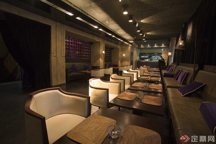 餐饮空间,沙发茶几,灯饰,形象墙图片