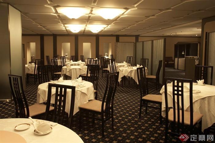 餐厅空间,餐桌椅,灯饰