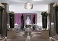 餐厅空间,装饰雕塑,餐桌椅,吊顶