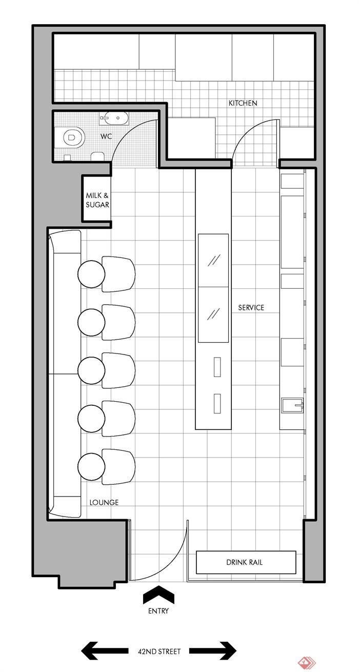 创意小咖啡馆-咖啡馆餐厅平面布置-设计师图库