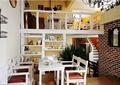咖啡厅,餐桌椅,复式层,隔断,楼梯