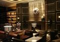 酒店,沙发,茶几,灯饰,形象墙,置物架,花环