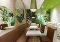 餐桌,长沙发,椅子,装饰墙,咖啡厅