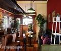 咖啡馆,沙发茶几,椅子,吊灯,置物架,陈设