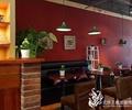 咖啡馆,吊灯,置物架,沙发茶几,椅子,陈设