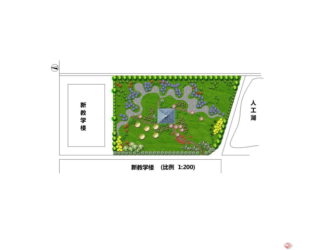 教学楼中庭景观图片