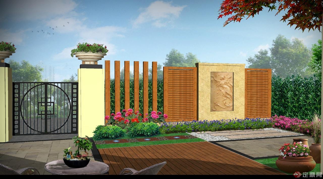 欧式别墅花园-花园定制中心