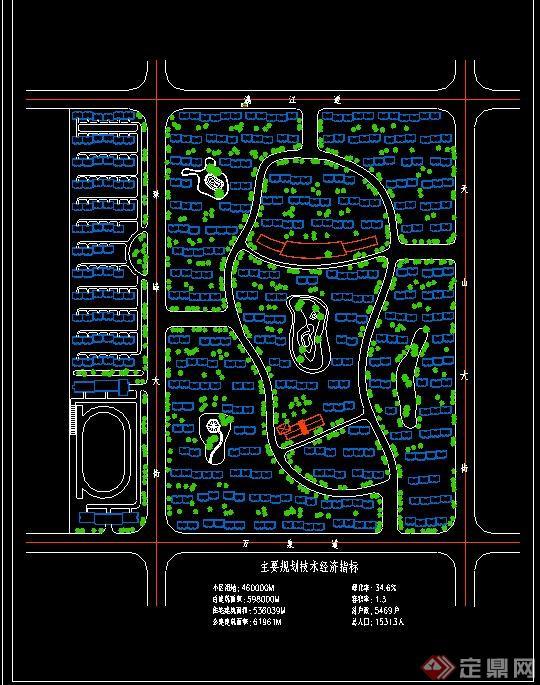 某小区规划CAD总平面图图片