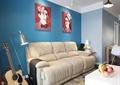 客厅,沙发,吊灯,落地灯,吉他,茶几,地毯