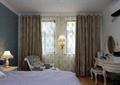 卧室,床,床头柜,椅子,灯饰,梳妆台,窗帘