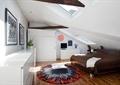 卧室,阁楼,床,储物柜,地毯