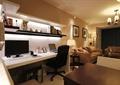 客厅,沙发,书桌椅,置物架,吊灯,装饰画