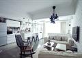 客厅,沙发,椅子,餐具,灯饰,电视