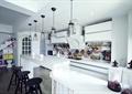 厨房,吊灯,背景墙,橱柜,吧台,吧台椅