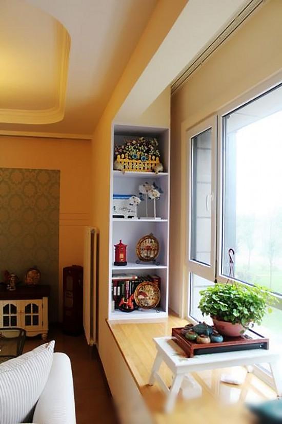 飘窗,茶具,储物柜,客厅