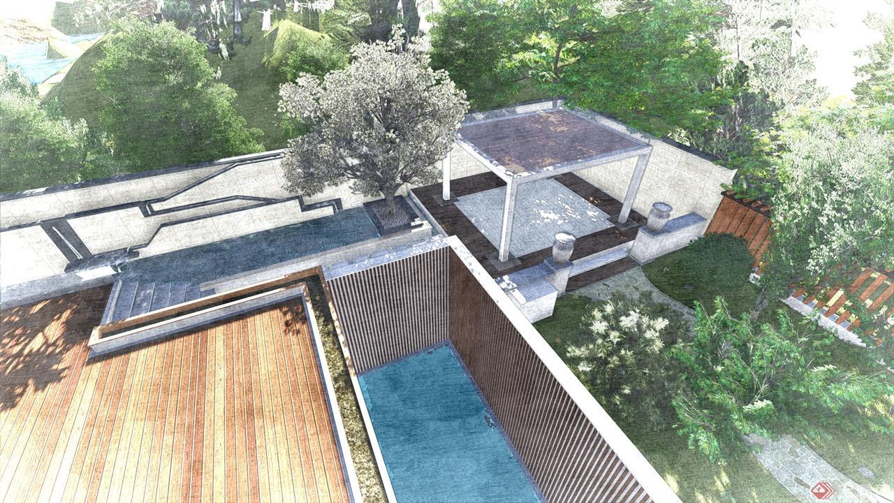 天津某高端别墅庭院设计