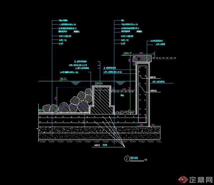 ... 节点木步道、驳岸、小径、木平桥等设计CAD施工图(1