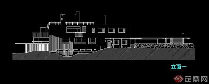 玛利亚别墅建筑设计su模型(带cad方案图)